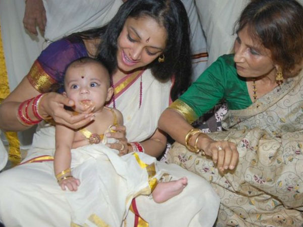Shobhana With Her Baby