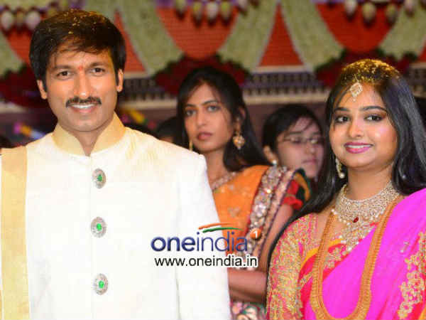 Gopichand Reshma Wedding With Star Blessigns