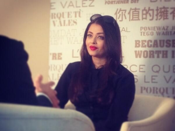 Aishwarya During Media Interactions