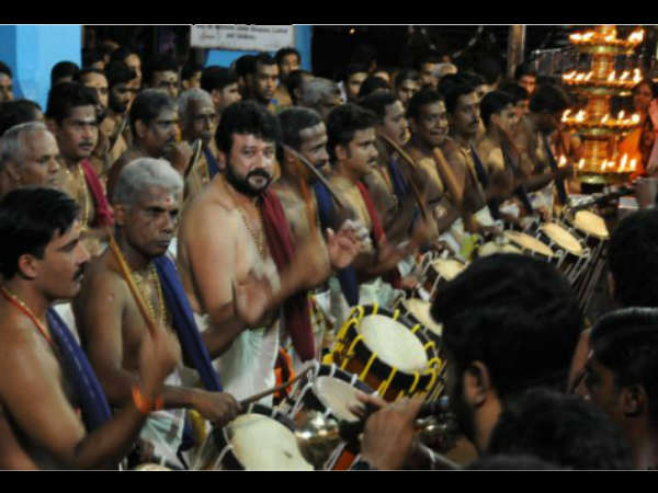 Jayaram Is Seen With 150 Percussionists