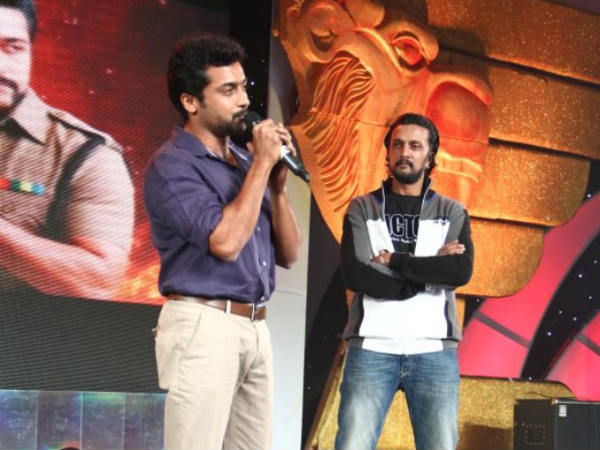 Surya With Sudeep
