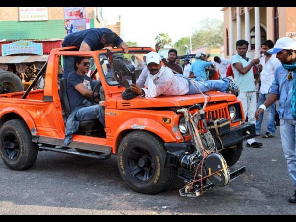Shahrukh In Jeep