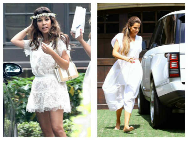 Khloe-Kourtney Attended Kim's Baby Shower