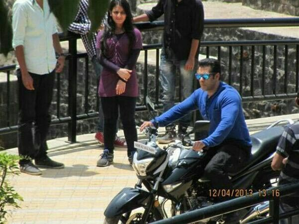 Salman Riding Bike