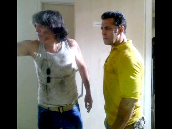 Salman Shooting Action Scene
