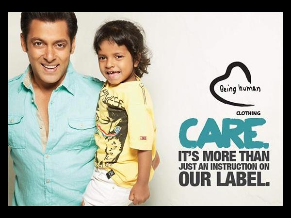 Salman With A Child