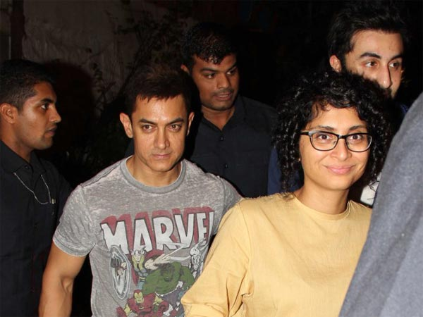 Aamir With His Wife