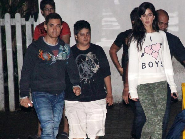 Pictures: Aamir Khan spotted with Katrina Kaif on Dhoom 3 ... Aamir Khan In Dhoom 3 Sets