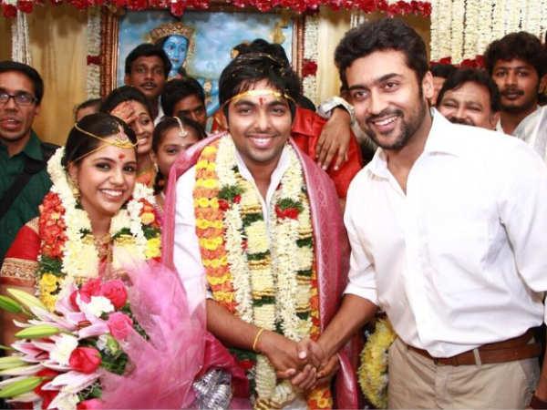 GV Prakash and Saindhavi Marriage Photos  GV Prakash and ... Vadivelu Daughter Kavya Marriage