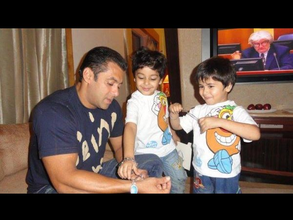 New Photo: What's Salman Khan doing with the two cutie ...