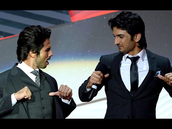 Sushant With Shahid
