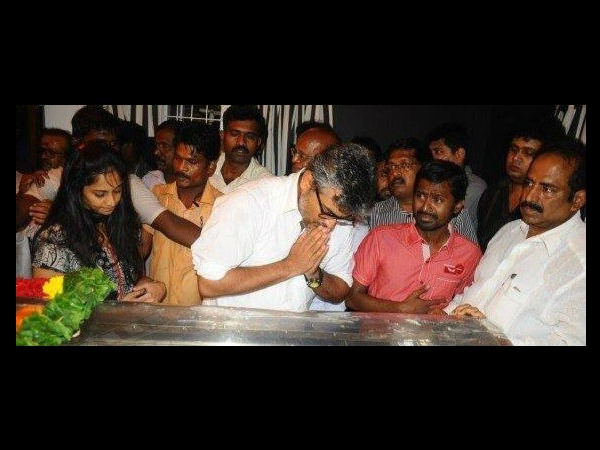 Ajith Kumar Paying Last Tribute
