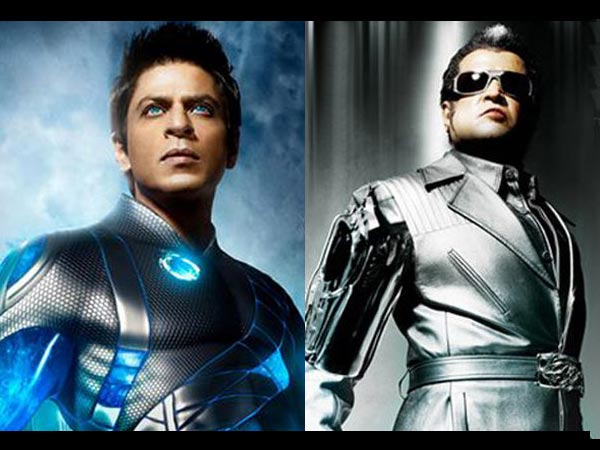 Rajinikanth And Shahrukh Khan In Ra.One