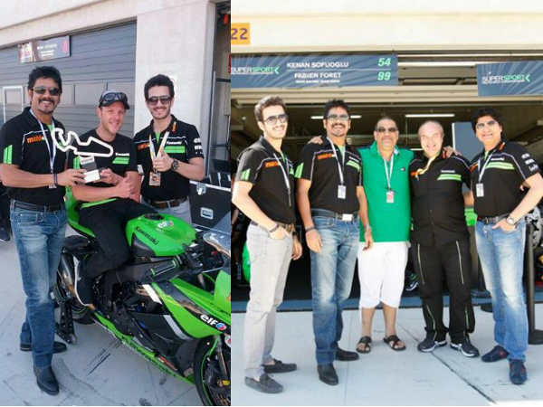 Akhil With Mahi Racing Team
