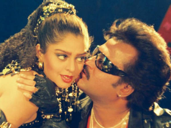 Nagma With Rajinikanth