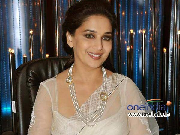 Madhuri Dixit In Pearl White