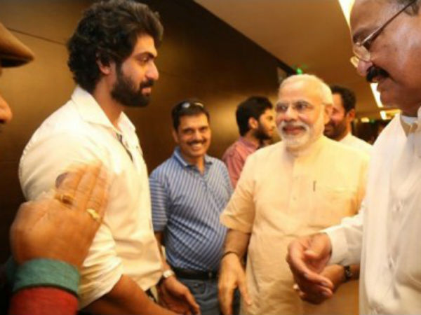 Rana Dagubatti With Modi