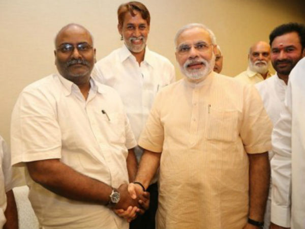 MM Keeravani With Modi