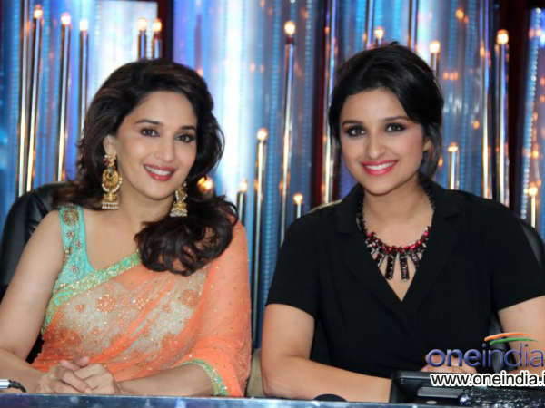 Parineeti Chopra With Madhuri Dixit