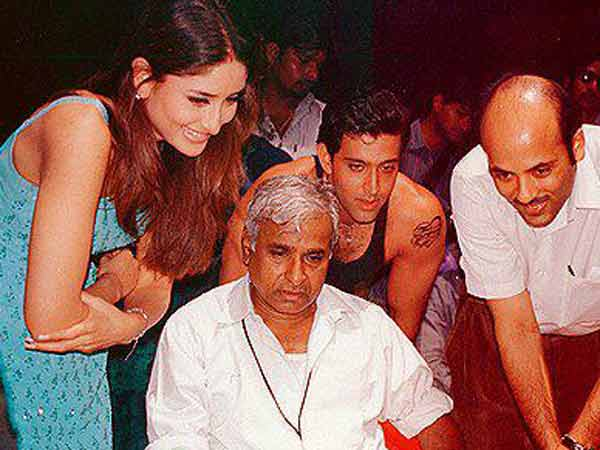 Hrithik-Bebo On The Sets
