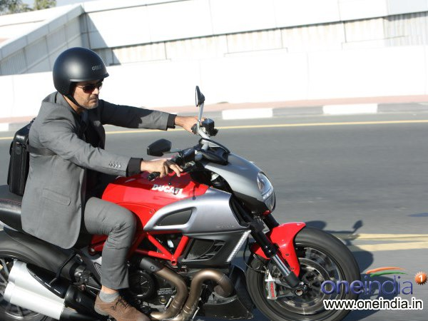photos: ajith adds aprilla caponord 1200 to his bike collection