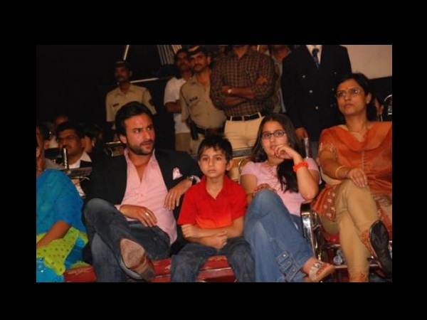 Saif With His Kids