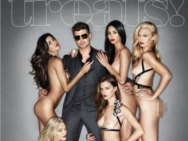 Robin Thicke on Treats magazine cover