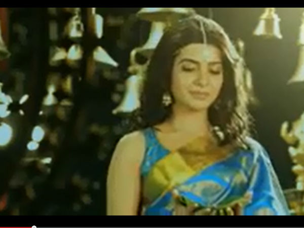 Samantha In Ad Of South India Shopping Mall