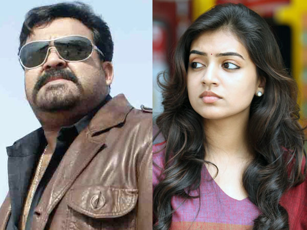 Mohanlal and Nazriya Nazim
