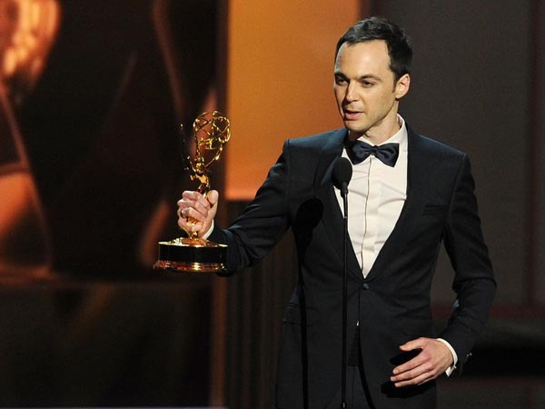 Jim Parsons Speaks At The Emmy Awards 2013
