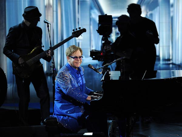 Elton John Performs At The Emmy Awards