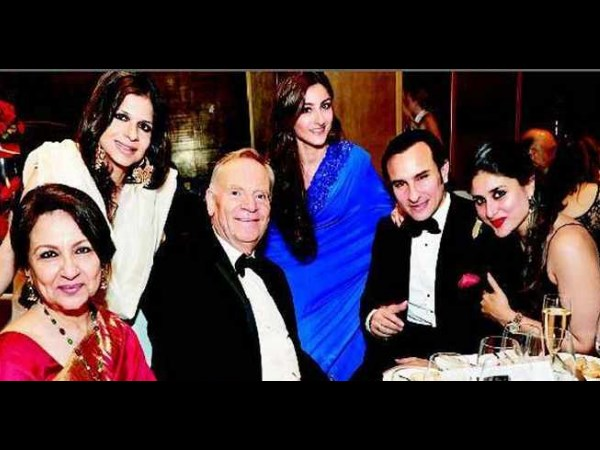 Pataudi family with Jeffrey Archer