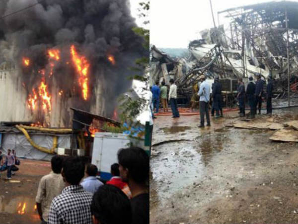 Fire On Comedy Nights' Sets