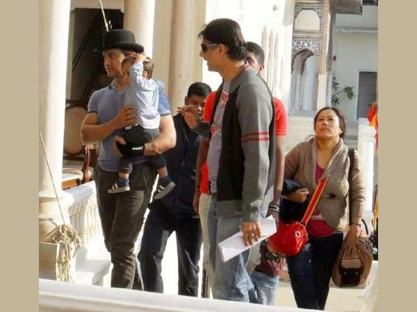 Aamir's Son On The Sets