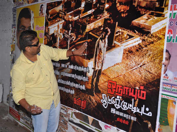 Mysskin On Streets To Stick OA Posters!