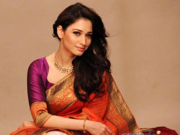 Tamanna Bhatia In Saree: Saree - Filmibeat