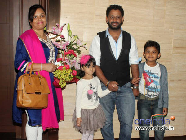 In Pic: Resul Pookutty With His Family