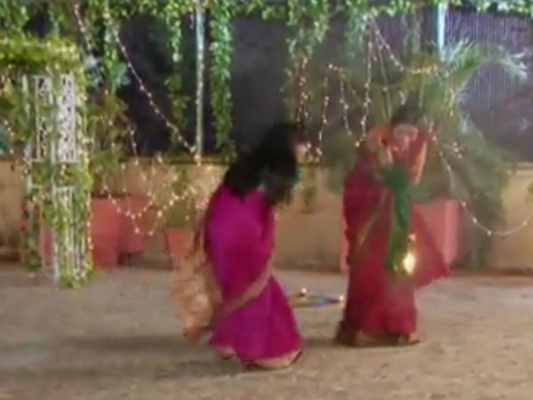 Anjali's Sari Catches Fire