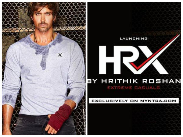 Hrithik Launches Lifestyle Brand HRX