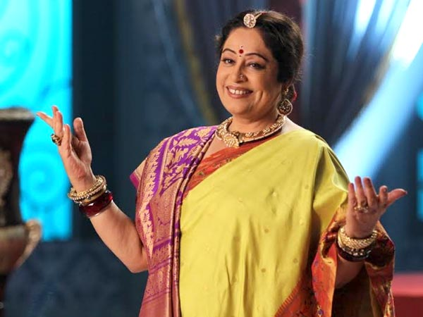 Kiron Kher At The Promo Shoot