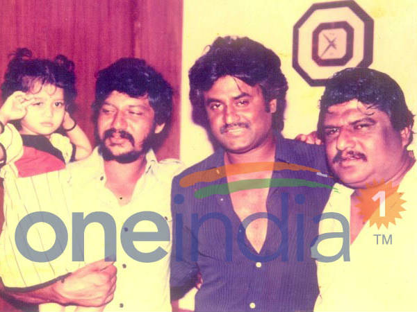 Rajinikanth Along With His Close Friend Gopinath Rao And His Kid