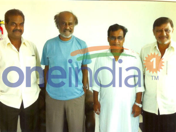 Rajinikanth Seen Along With Another Friend Raghunandan