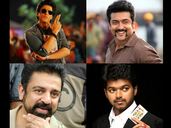 Shahrukh Way Ahead Of Surya, Kamal & Vijay