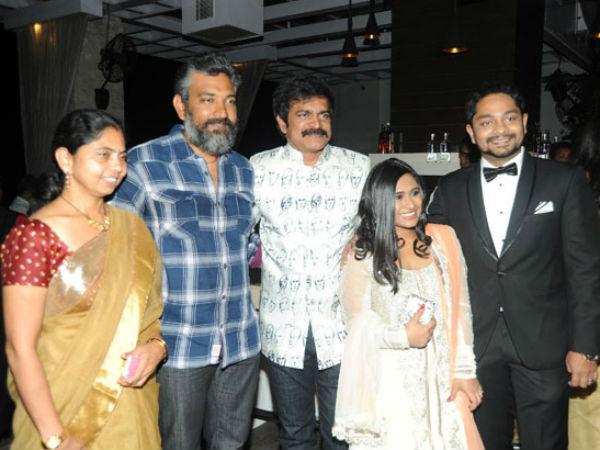 Brahmaji Son Wedding Reception Marriage Reception Photos