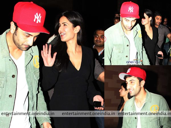Ranbir Kapoor And Katrina Kaif At The Screening Of The Wolf Of Wall Street