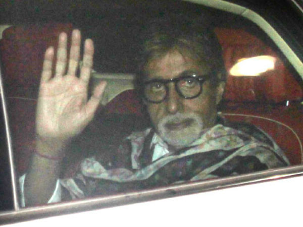 Big B Arrives For The Event