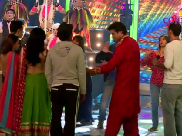 Armaan During Grand Finale Shooting