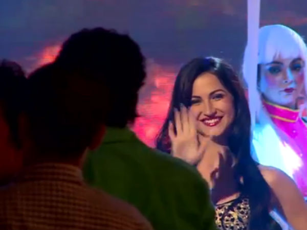 Elli Avram On Sets Of Bigg Boss 7 Grand Finale
