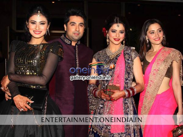 Aamna With Amit, Mouni And Sanjeeda