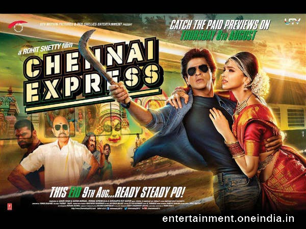 Chennai Express - 3rd Highest Grosser